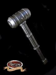 Einhändiger Hammer, Zylinderkopf, dicke Ziernieten