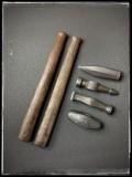 Zwei Hammerstiele + 4 Hammerköpfe (Prop aus PU-Weichschaum)